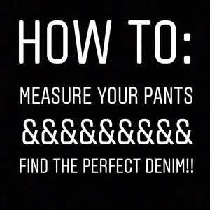Denim - How to measure your body and denim